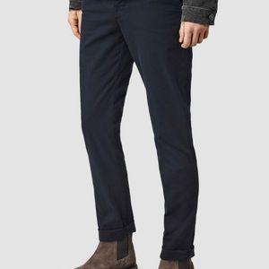 AllSaints Stove Fit Lumen Skinny Chinos Black